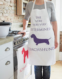 The Determined Dachshund Apron by Bottle Green Homes
