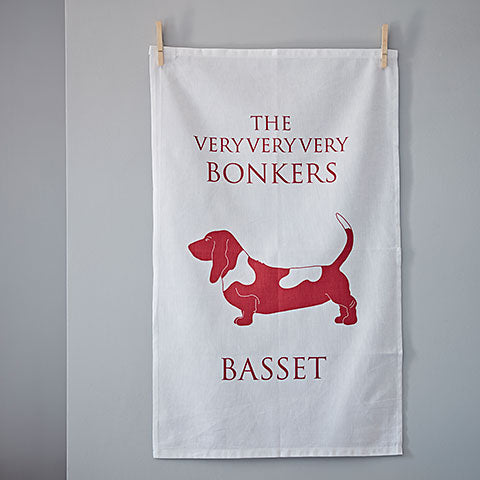 Basset Tea Towel - Basset Hound Gift - Home and Hound