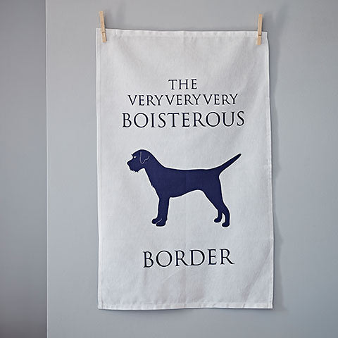Boisterous Border Terrier Tea Towel