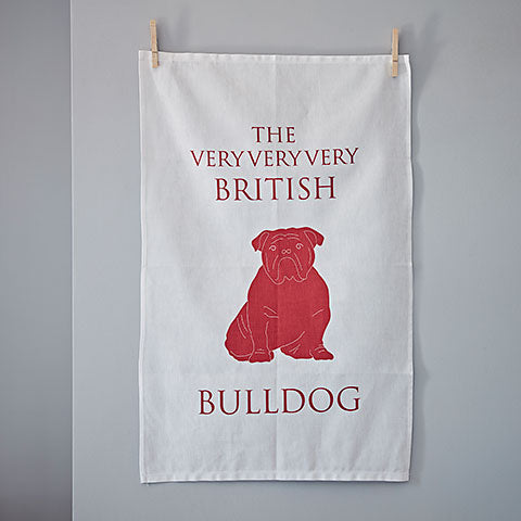 Bulldog Tea Towel