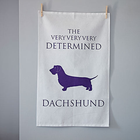 Determined Dachshund Tea Towel - Home and Hound