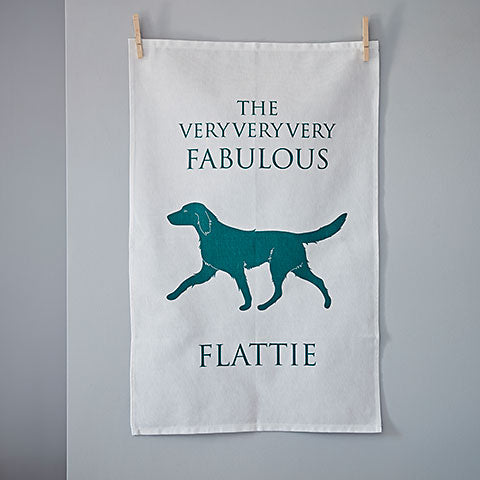 Flatcoated Retriever Tea Towel - Home and Hound