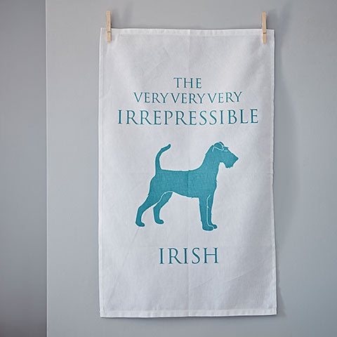 Irish Terrier Tea Towel - Home and Hound