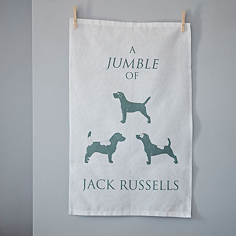 Jack Russell Terrier Tea Towel - Home and Hound
