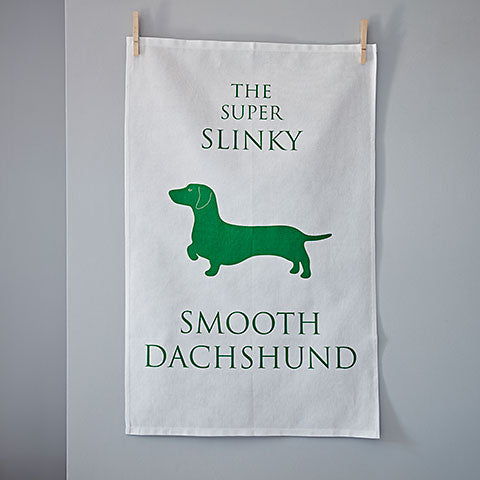 Smooth Dachshund Tea Towel - Home and Hound