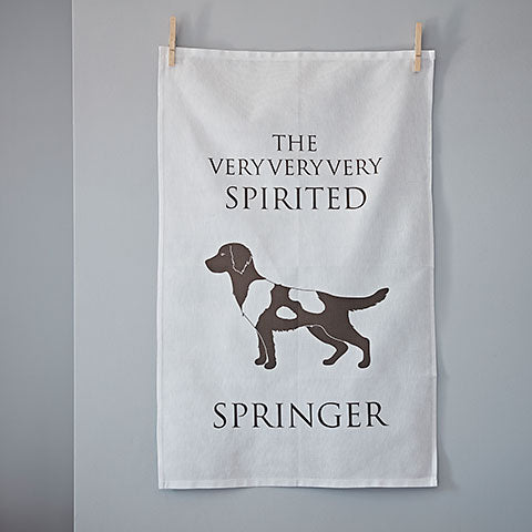 Spirited Springer Tea Towel