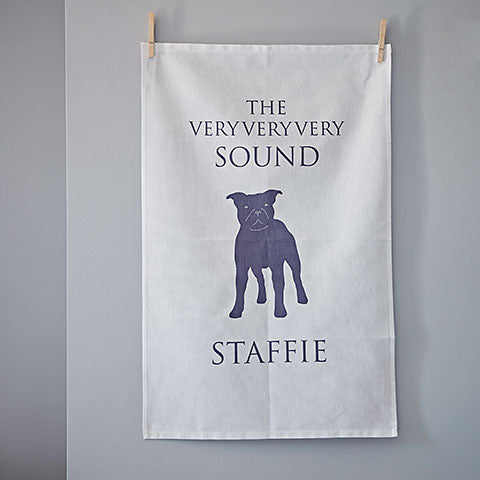 Sound Staffie Tea Towel