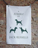 Jumble Jack Russell Tea Towel