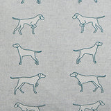 Pointing Dogs Long Cushion detail of the fabric - Bottle Green Homes