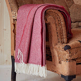 Red Herringbone Throw