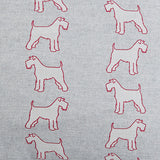 detail of the Grey Schnauzer fabric - Bottle Green Homes