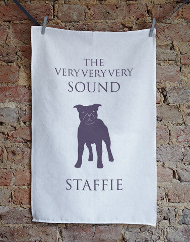 Sound Staffie Tea Towel - Bottle Green Homes  - 1