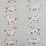 Spaniel Dogs Cushion detail of fabric by Bottle Green Homes