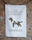 Spirited Springer Tea Towel - Bottle Green Homes  - 1