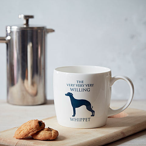 Willing Whippet Fine Bone China Mug in a Lifestyle Setting - Home and Hound