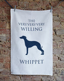 Willing Whippet Tea Towel - Home and Hound