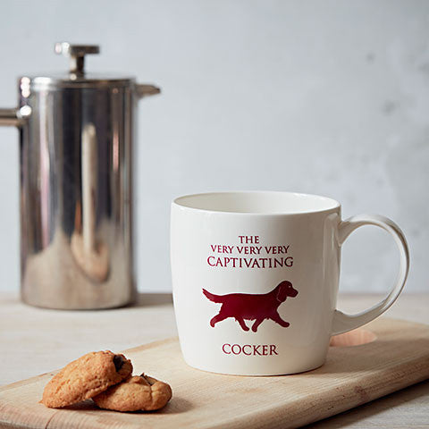Working Cocker Mug in a lifestyle setting - home and hound