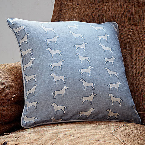 blue labrador cushion - bottlegreenhomes