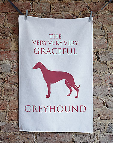 Graceful Greyhound Tea Towel - Bottle Green Homes  - 1