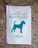 Irish Terrier Tea Towel - Bottle Green Homes  - 1