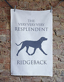 Rhodesian Ridgeback Tea Towel - Bottle Green Homes  - 1