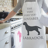 lifestyle shot of the labrador apron by bottlegreenhomes