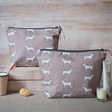 red border terrier washbags