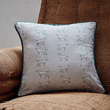 grey pointing dog square cushion by bottlegreenhomes