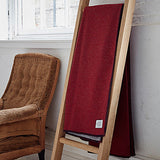red throw on ladder by bottlegreenhomes