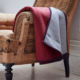 Plain red throw with reversible grey by bottlegreenhomes