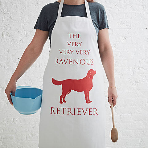 golden retriever apron by bottlegreenhomes