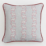 Grey Schnauzer Cushion on a white background - Bottle Green Homes