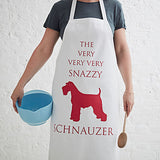 The Snazzy Schnauzer Apron - Bottle Green Homes  - 1