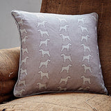 pink schnauzer square cushion by bottlegreenhomes
