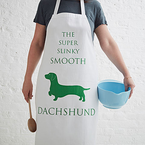 Smooth Dachshund Apron - Bottle Green Homes  - 1