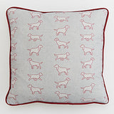 Spaniel grey square Dogs Cushion by Bottle Green Homes