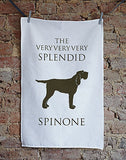 Splendid Spinone Tea Towel - Bottle Green Homes  - 1