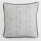 square grey Whippet Cushion by Bottle Green Homes