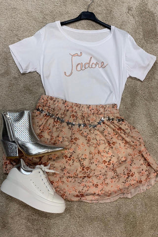 T-SHIRT JADORE PINK AND SILVER