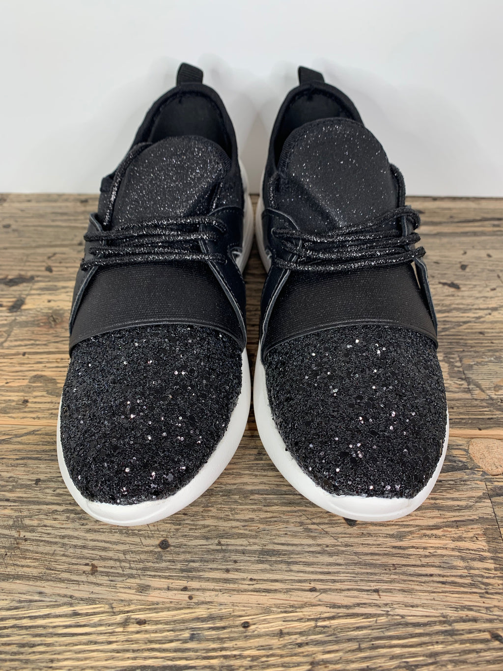 Black Glitter Shoes