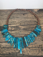 Blue Orange & Green Stone Necklaces