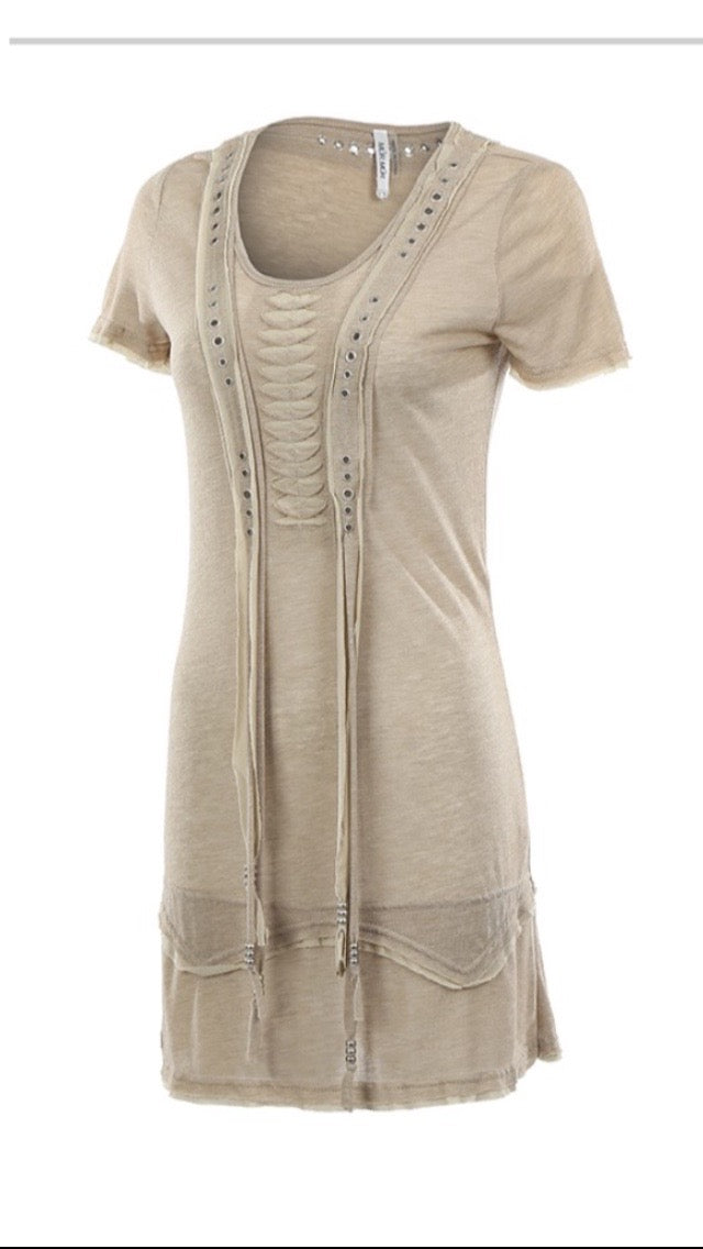 Brown Sheer Cover Up Dress