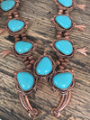 Copper and Turquoise Squash Necklace