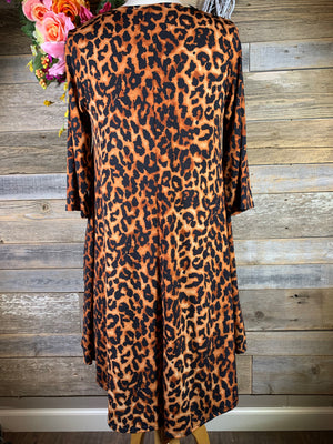 Leopard Dress with Pockets