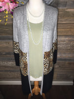 Leopard Long Cardigan