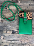 Green Leopard Crossbody Purse