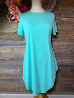 Mint Boyfriend Tunic Top