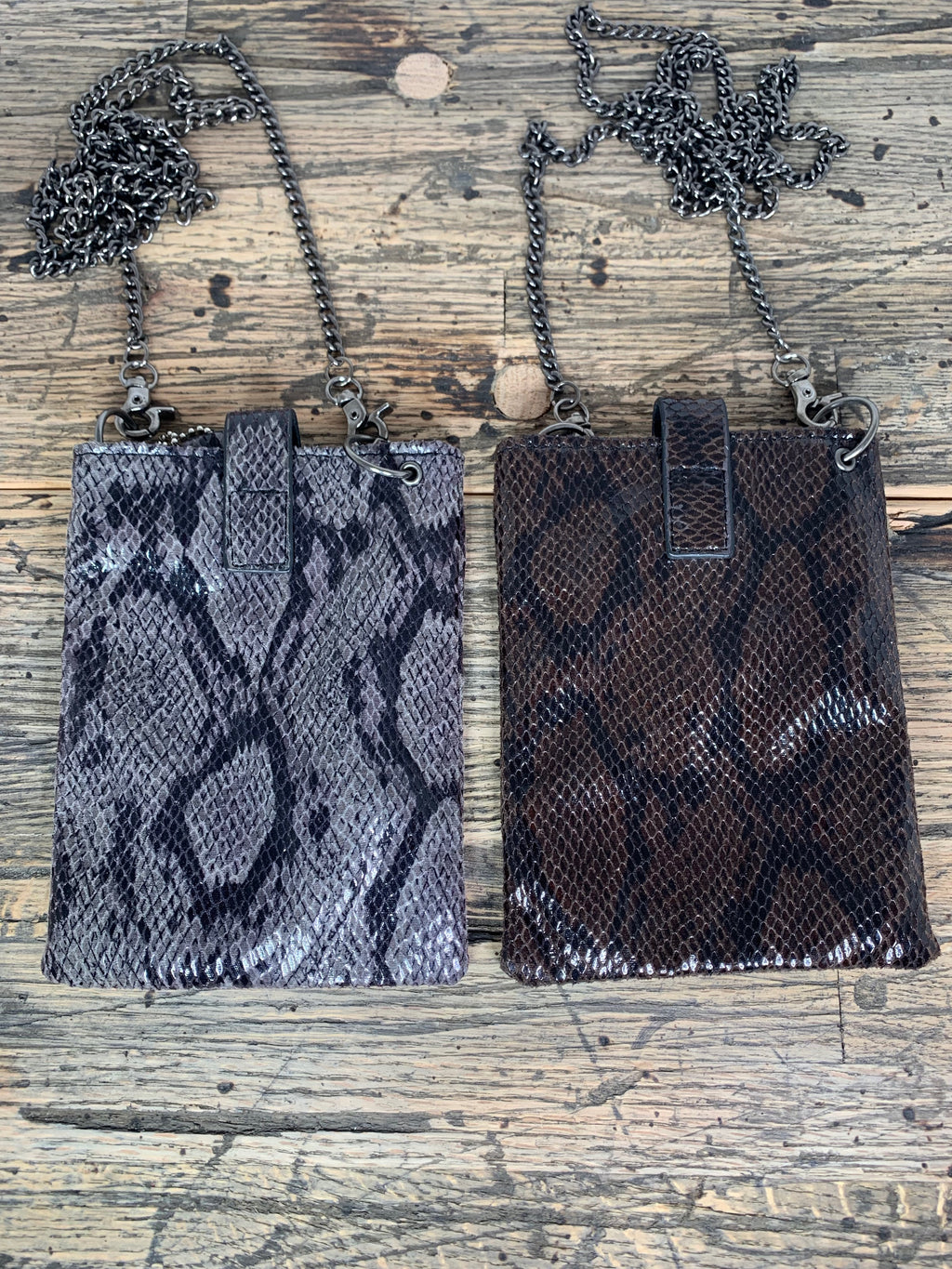 Snake Skin Leather Crossbody