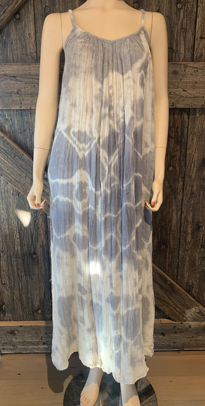 Grey Tie Die Tinkerbell Maxi Dress