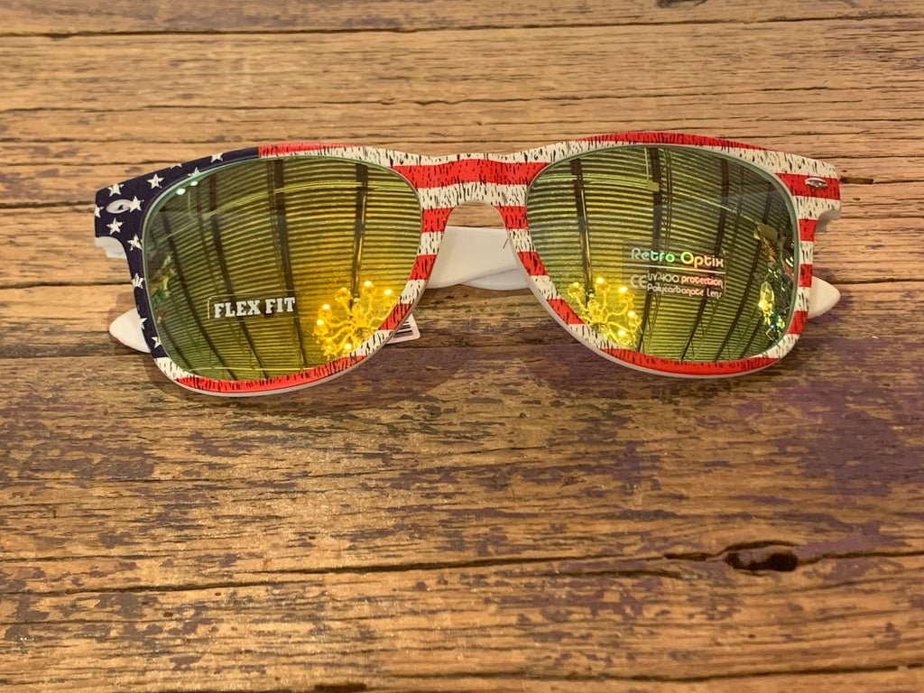 American Flag Basic Sunglasses